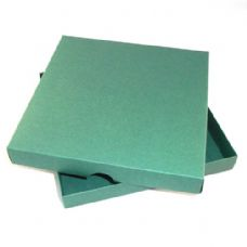 "9"" x 9"" Green Invitation Boxes For Handmade Cards"